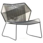 Необычный дизайн кресла, созданного из металла