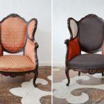 Необычный дизайн кресла в коралловом цвете