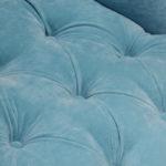 Обивка голубого цвета кресла