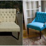 Обновление бирюзового кресла для интерьера дома