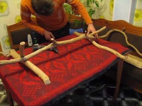 Обработка кресла из коряги