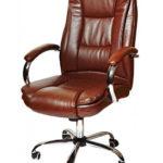 Офисное кресло в коричневом цвете
