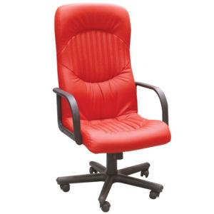 Офисное кресло в ярком красном цвете