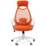 Офисное оранжевое кресло