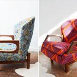 Оформление кресла в коралловом цвете
