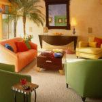 Оливковый цвет современных кресел для дома