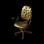 Оригинальное компьютерное кресло в золотом цвете