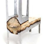 Оригинальное кресло из алюминия