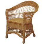 Оригинальное кресло на основе лозы плетеного типы