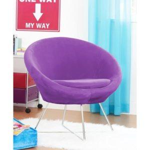 Оригинальное кресло, выполненное в фиолетовом цвете