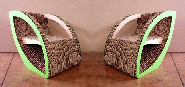 Оригинальные кресла из картона