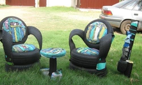 Оригинальные кресла из колес