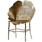 Оригинальный дизайн бронзового кресла