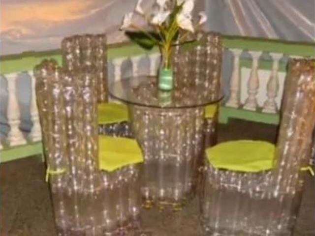 Поделки своими руками мебель из пластиковых бутылок
