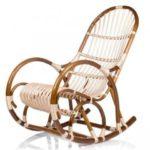 Плетеное кресло качалка на основе лозы