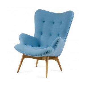 Практичное голубое кресло