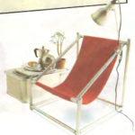 Практичное кресло, созданное из труб
