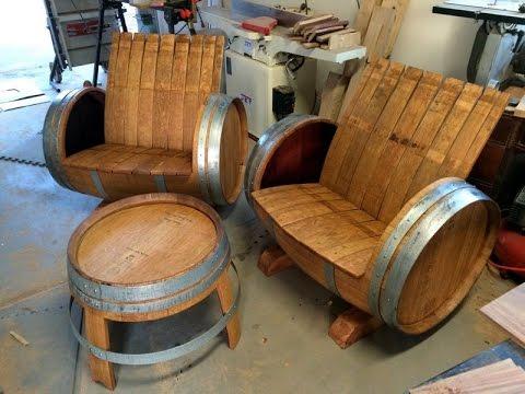 Применение бочки для изготовления кресла