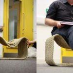 Применение канатового кресла