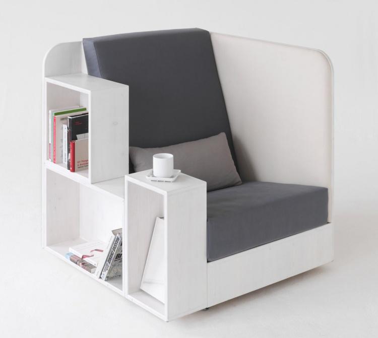 Применение книг для изготовления кресла