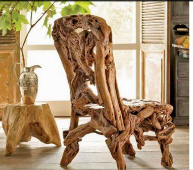 Применение коряги для изготовления кресла