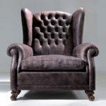 Применение кресла в коричневом цвете для дома