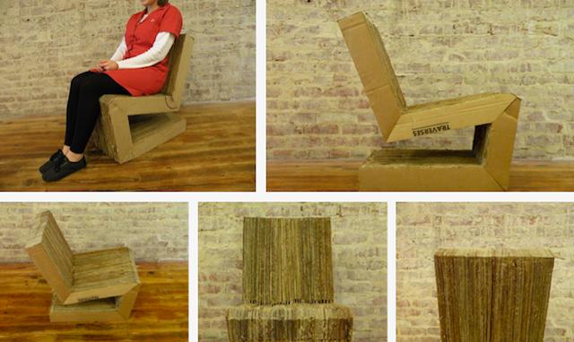 Применение современного кресла из картона