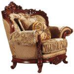Приятное золотое кресло