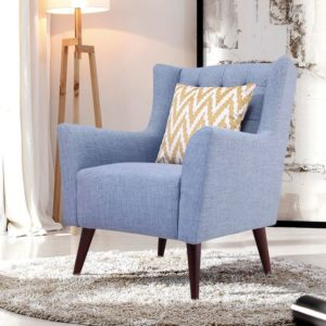 Приятный оттенок голубого кресла