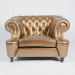 Приятный оттенок золотого кресла