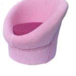 Розовое маленькое детское кресло