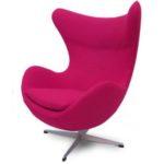 Розовое яйцо-кресло для дома