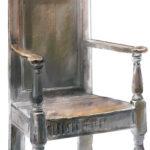 Шикарное дорогое дубовое кресло
