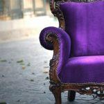 Шикарное фиолетовое кресло