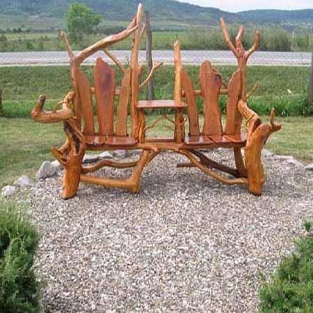 Садовое кресло из коряги