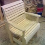 Садовое кресло на основе липы