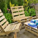 Садовые кресла из поддонов