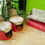 Самодельное кресло из бочки