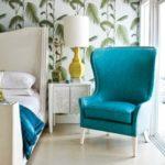 Современное бирюзовое кресло
