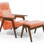 Современное и удобное коралловое кресло