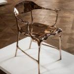 Современное красивое кресло на основе бронзы