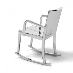 Современное кресло качалка, созданное из алюминия