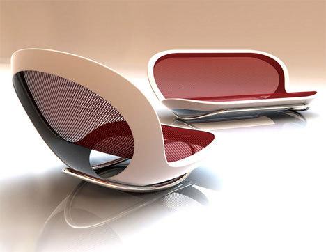 Современное кресло на основе пластика
