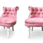 Современное розовое кресло