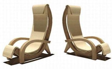 Современные кресла из картона