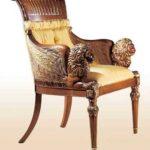 Стильное и дорогое кресло из бронзы
