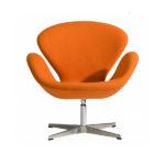 Стильное кресло в орнажевом цвете