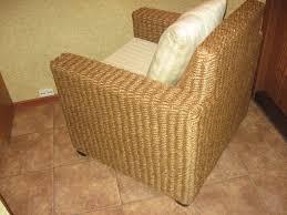 Светлое кресло на основе каната