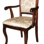 Темное кресло из ламината
