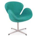 Удобное бирюзовое кресло